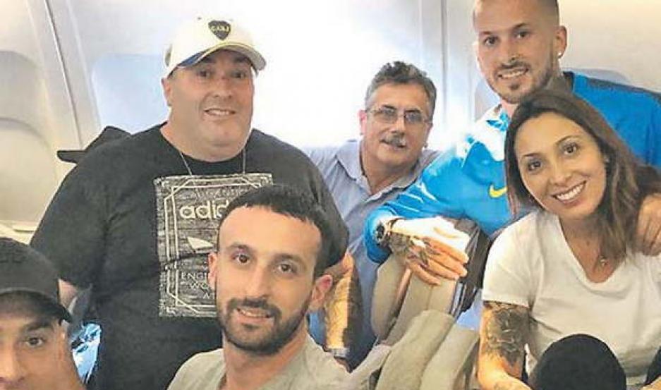 Clima distendido y familiar para los jugadores de Boca que viajaron a Madrid