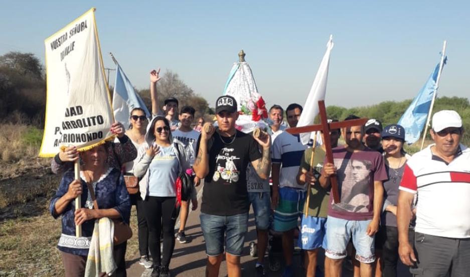 Los peregrinos recorrieron 15 kilómetros.