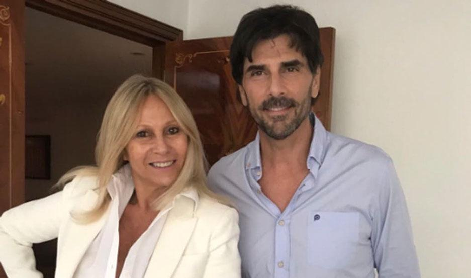 Rosenfeld, junto a su ex cliente, Juan Darthés.