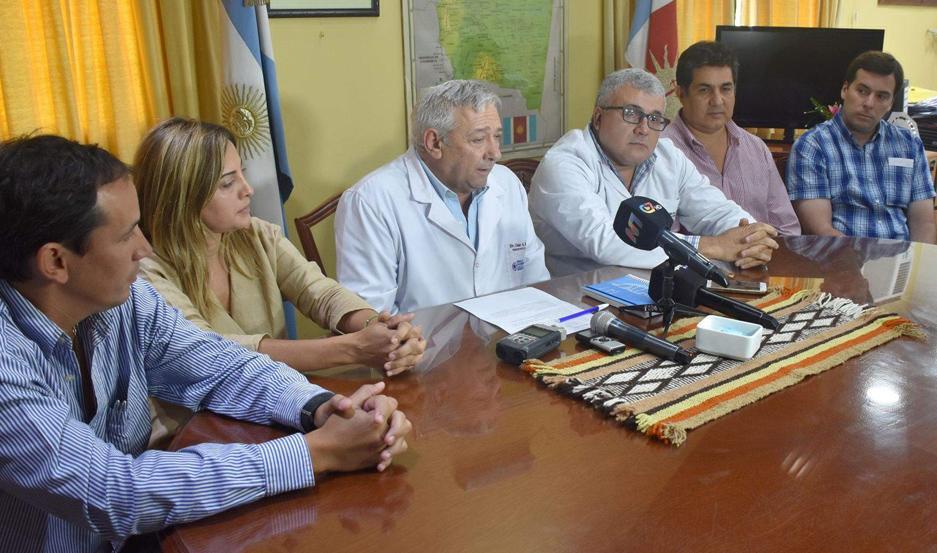 ANUNCIO. Estuvo a cargo del subsecretario de Salud de la Provincia, Dr. César Monti, y demás autoridades sanitarias.
