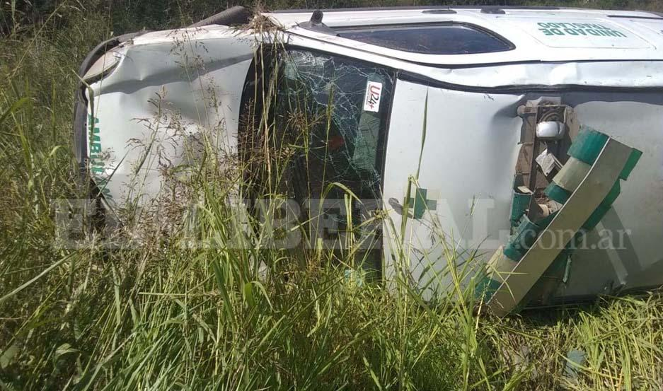 La ambulancia formaría parte de una clínica privada de Quimilí.